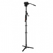 EIMAGE ML-900C+GH04F CARBON FIBER MONOPOD CON FLUID HEAD Y HAND CRANK MAX. HEIGHT 81.9 IN